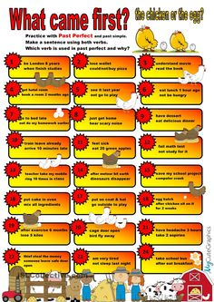 Past Perfect & Past Simple Speaking Practice Cards