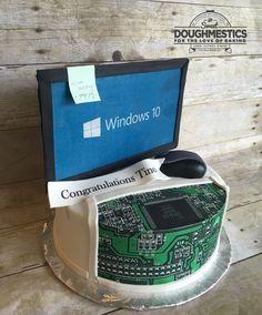 Computer Technology Cake by Sweet Doughmestics