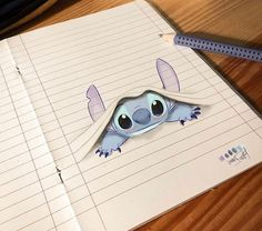 Stitch Dessin ✏ - Real Tutorial and Ideas Easy Disney Drawings, Cool Art Drawings, Pencil Art Drawings, Art Drawings Sketches, Cartoon Drawings, Drawing Art, People Drawings, Drawing Disney, Easy Drawings