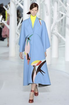 Highlights From New York Fashion Week Fall 2015  - ELLE.com : i love the shoe choice (its has that sense of pop to the registered ensemble).#DELPOZO  #Dorothy #AllRoadsLeadToEmaraldCity