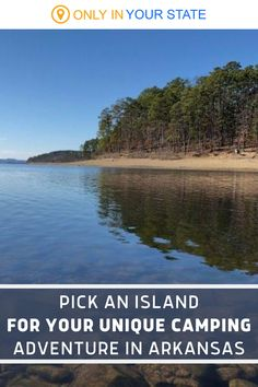 Enjoy a unique island camping adventure on Lake Ouachita in Arkansas. There are 200 islands to choose from with forest areas and sandy beaches. Pitch your tent and enjoy a rustic, secluded, private vacation. If you're on a budget, you're in luck. These family-friendly getaways are so affordable - free! | Things To Do | Local Travel With Family And Friends | National Parks and Forests Beautiful Places In America, Hidden Beach, Road Trip Usa, Sandy Beaches, Summer Travel, Vacation Spots, Day Trips, Arkansas, State Parks