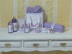Lavender bathroom accessories