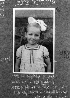 Feiga Feinkind, From Lodz, Poland, Who Survived Under an Assumed Identity in a Catholic Orphanage, 1947