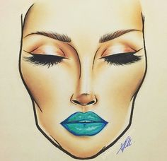 Face Chart. Artist unknown to me…