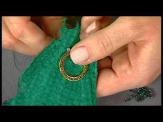 Seed Bead Embroidery with Katie Hacker (+playlist) Bead Embroidery Tutorial, Bead Embroidery Jewelry, Silk Ribbon Embroidery, Embroidery Stitches, Embroidery Patterns, Beaded Jewelry, Jewellery, Jewelry Making Tutorials, Beading Tutorials