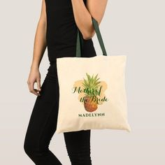 Tropical Pineapple Wedding Mother of the Bride Tote Bag Floral Tote Bags, Pink Tote Bags, Bridesmaid Tote Bags, Bridesmaids, Bridesmaid Gifts, Suede Tote Bag, Personalized Tote Bags, Leather Flowers, Burgundy