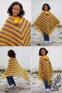 Classic Crochet Poncho - Step by Step DIY