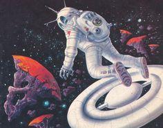 70s sci-fi astronaut.