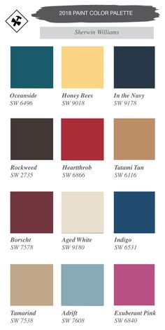 2018 paint color palette with sherwin williams | home remodeling and design trends for 2018 | construction2style