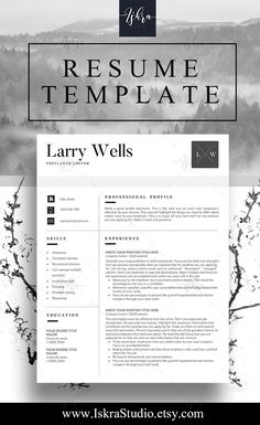 Buy Resume Templates Custom Buy One Get One Free Resume Template Resume Word Resume Cv