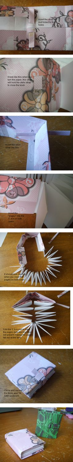 Miniature Japanese-style Book Tutorial pg 2 by Swashbookler on deviantART