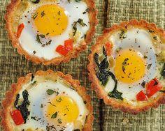 Baked Egg Bell Pepper Tarts Recipe