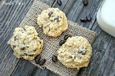 French Press: Oatmeal Chia Seed Cookies with Dark Chocolate Covered Pomegranate Seeds