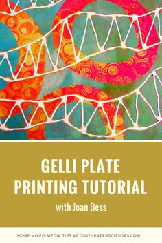 Print Gelli Plate Printing Tutorial with Joan Bess How A Pendulum Works to Keep Time (Part Up unt Gelli Plate Printing, Printing On Fabric, Transfer Printing, Cloth Paper Scissors, Gelli Arts, Bible Verse Wall Art, Plate Art, Art Prints Quotes, Tampons