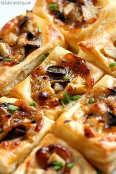 Caramelized Onion, Mushroom, Apple & Gruyere Bites » Table for Two
