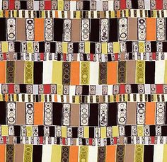 Traffic Lights by Jacqueline Groag  for David Whitehead  Printed Rayon  British, 1953