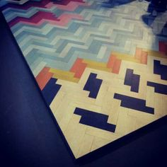 Wall to Wall Flooring by Raw Edges herringbone pattern http://www.apartmenttherapy.com/wall-to-wall-by-raw-edges-i-saloni-2012-169759