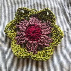I am so pleased with this flower despite my confusion with the third round! I am ready to crochet 30 more....unless I get distracted....#crochet #crochetlove #crochetaddict #yarn #crochetflower #susanpinner #handmade #handcrafted
