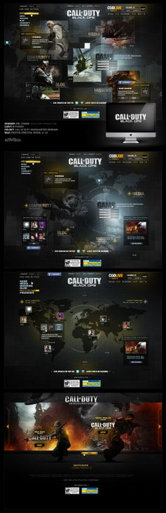 Call of Duty: Black Ops / CODLive Pitch - Designed By Eric Jordan of 2Advanced Studios (www.ericjordan.com)