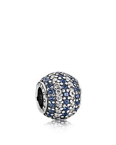 PANDORA Charm - Sterling Silver, Cubic Zirconia & Crystal Blue Nautical Pave Lights | Bloomingdale's