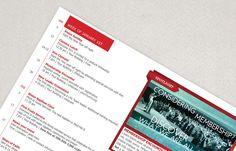 Modern Church Bulletin Brochure Template   Inkd