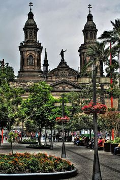 Santiago Cathedral, Chile -- Chile is high on our S. America list, and I hear Santiago is a lot like European cities! Places Around The World, Oh The Places You'll Go, Places To Travel, Places To Visit, Around The Worlds, Tours, South America Travel, Wonders Of The World, Chili
