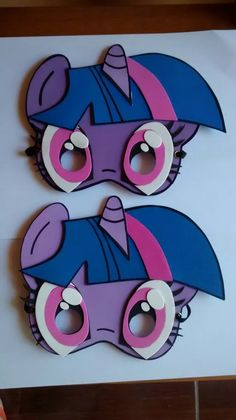 Antifaz De Mi Little Pony En Goma Eva Y Piñatas - $ 17,00 en Mercado Libre