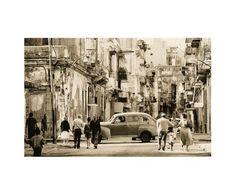 Stampa su tela Havana Street, by Lee Frost - 60x80 cm