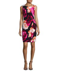 CALVIN KLEIN Calvin KleinSleeveless Floral Dress. #calvinklein #cloth #