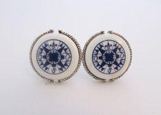 Royal Copenhagen Vintage Cufflinks Signed by LadyandLibrarian