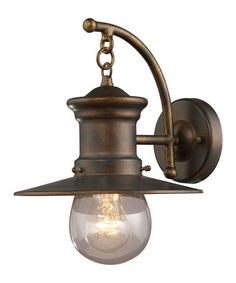 Another great find on #zulily! Hazelnut Bronze & Seeded Glass Hanging Wall Sconce #zulilyfinds