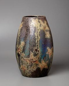 "Levy Dhurmer Pottery   Lucien Lévy-Dhurmer, ""Stars"" vase, ca. 1895"