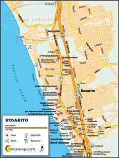 Rosarito Beach Baja Maps