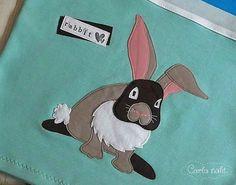 Shirt Hose Set Applikation Hase Kaninchen Herzensbunt applique rabbit