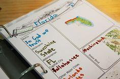 50 States Notebook ideas