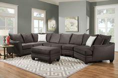Sofa Mart Glenwood 4 Pc Sectional Can Customize Fabric