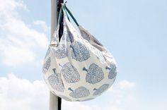 情人節禮物 植物染木刻印輕便包 / 背包 / 側背包 / 肩背包 / 旅行包 / 托特包 / 購物袋 - 生命樹 藍色森林 Albums, Bags, Handbags, Bag, Totes, Hand Bags