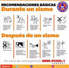 ¡Aquí! Recomendaciones básicas durante y después de un sismo