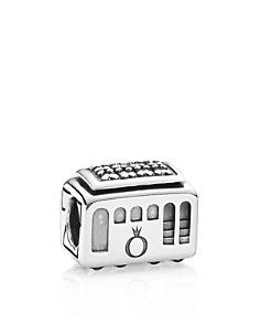 PANDORA Charm $50- Sterling Silver & Cubic Zirconia Cable Car, Moments Collection