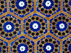 Tile pattern, Kalon mosque, Uzbekistan