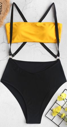 Two Tone Cross High Cut Suspender Bikini Swimsuit High Waisted Bathing Suits bikini Cross Cut High Suspender swimsuit Tone Bathing Suits Canada, Summer Bathing Suits, Vintage Bathing Suits, Cute Bathing Suits, Slimming Bathing Suits, Bathing Suit Bottoms, High Waisted Bikini Bottoms, Cute Swimsuits, Cute Bikinis