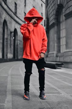 Onlytheblind Blood Orange Hoodie // Jeans