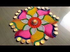 Beautiful Rangoli for Diwali/Deepawali/lakshmi pada FESTIVAL'S rangoli designs Happy Diwali Rangoli, Easy Rangoli Designs Diwali, Simple Rangoli Designs Images, Rangoli Designs Latest, Rangoli Designs Flower, Rangoli Patterns, Colorful Rangoli Designs, Rangoli Ideas, Kolam Rangoli