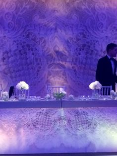 Recent wedding we did. Main table appears to float between the lace