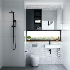 Upgrade Your House With Modern & Minimalist Bathroom Design Ideas That Will Impress Your Guest house bathroom floor shower interiordesign 119908408814929800 Compact Bathroom, Laundry In Bathroom, Simple Bathroom, Modern Bathroom, Unit Bathroom, Master Bathroom, Bathroom Artwork, Relaxing Bathroom, Minimal Bathroom