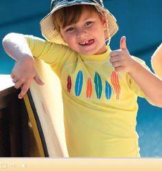 Camiseta com proteção solar da Sun Cover. Camiseta para menino com filtro solar, impede a passagem de 98% dos raios solares. Blusa com filtro solar em poliamida.