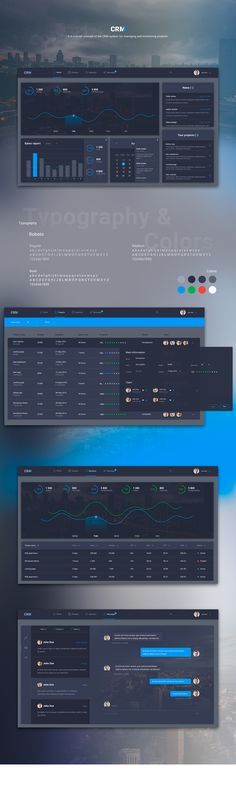 CRM - concept of the CRM system on Behance