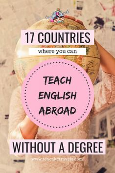 17 Countries Where You Can Teach English Abroad Without a Degree! Do you want to teach English abroad? No degree? No problem! Here are 17 countries where you can teach English without a degree abroad. Teaching Overseas, Moving Overseas, Work Overseas, Work Abroad, Study Abroad, Travel Jobs, Travel Hacks, Travel Deals, Travel Essentials
