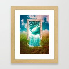 Everything Was Water Framed Art Print by seamless Water Frame, Surreal Collage, Wall Decor, Wall Art, Sci Fi Art, Framed Art Prints, Wall Tapestry, Surrealism, Digital Art