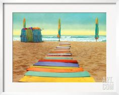 Beach Walk Framed Art Print by Robin Renee Hix at Art.com